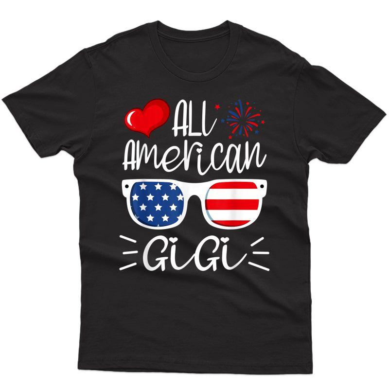 All American Gigi 4th Of July American Flag Grandma T-shirt