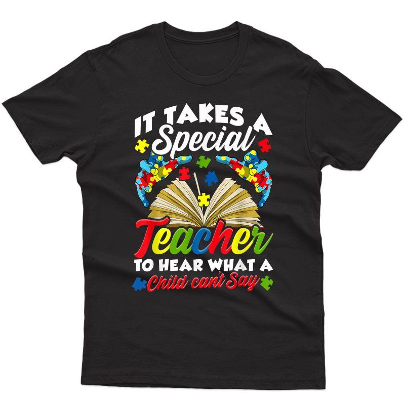 Autism Awareness Tea Shirts It Takes A Special Tea T-shirt