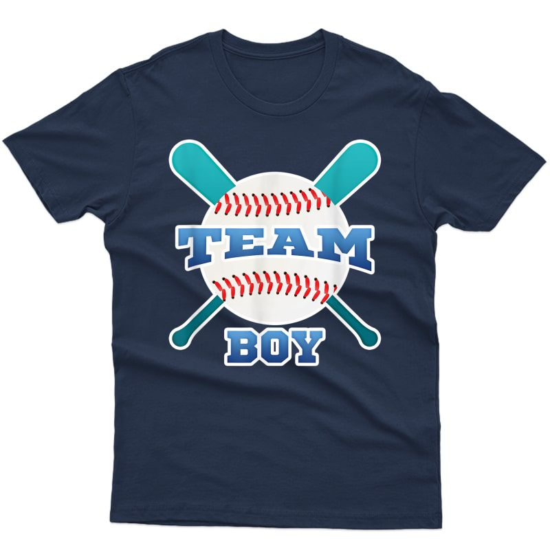 Baby Gender Reveal Party | Team Boy, Blue Baseball Theme Ts