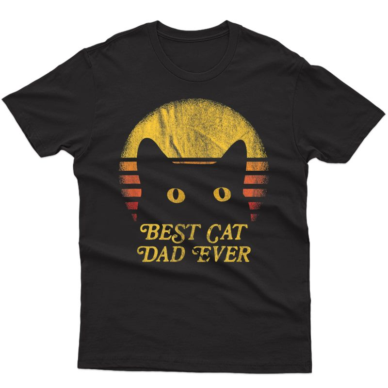 Best Cat Daddy Vintage Eighties Style Cat Retro Distressed T-shirt