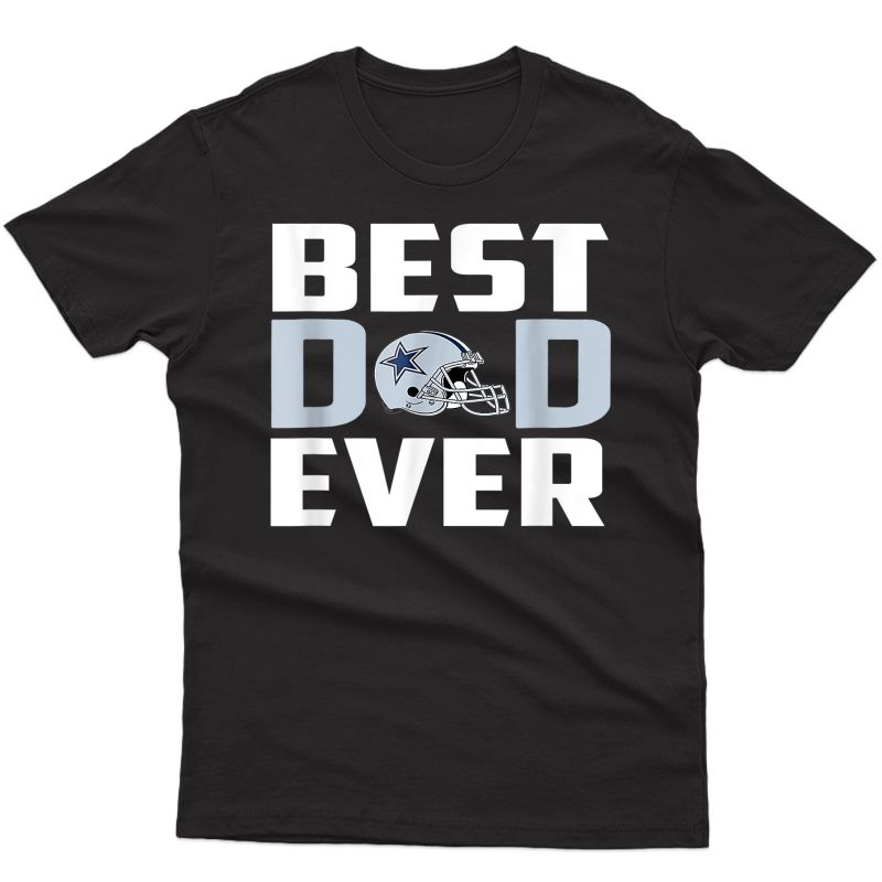 Best Dad Ever Dallas Fan Cow. Football Father's Day T-shirt
