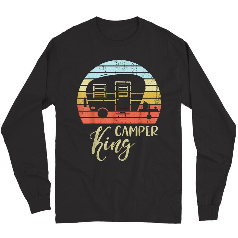 Camper King Classy Sassy Smart Assy Matching Couple Camping T-shirt Long Sleeve T-shirt