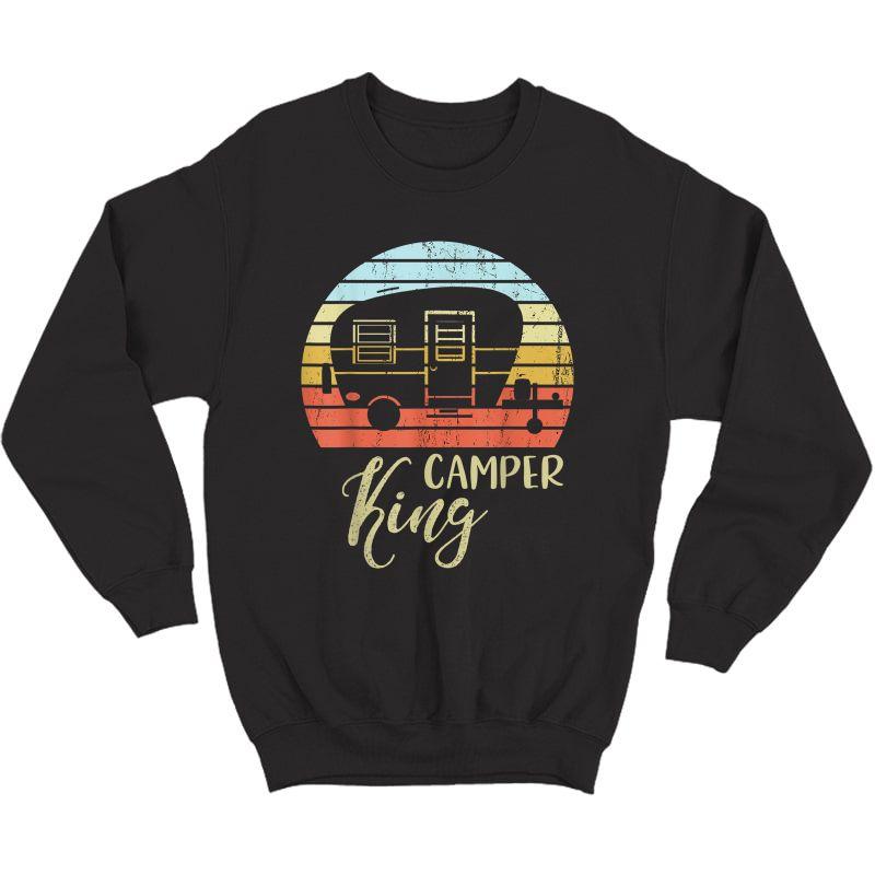 Camper King Classy Sassy Smart Assy Matching Couple Camping T-shirt Crewneck Sweater