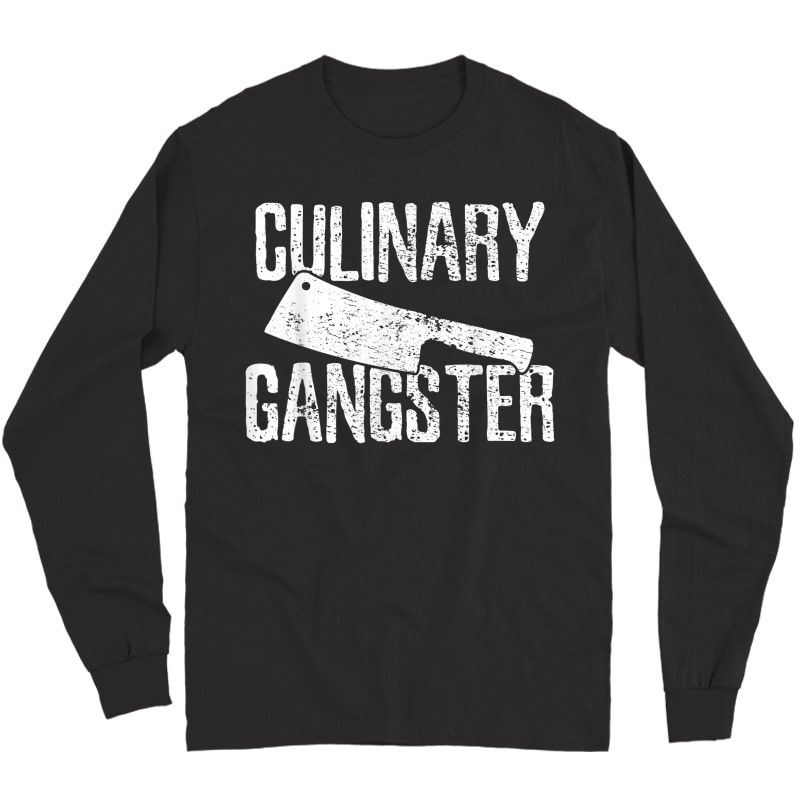 Chef Cook Cooking Culinary Gangster Vintage T-shirt Long Sleeve T-shirt