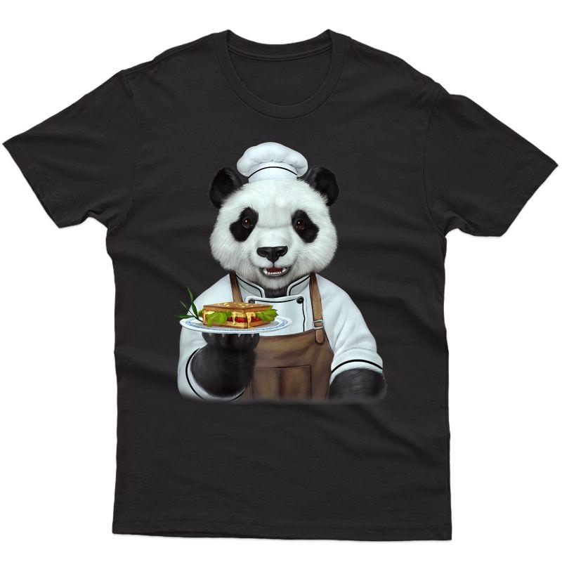 Chef Panda T Shirt Animal Face Panda Bear Ts Gift