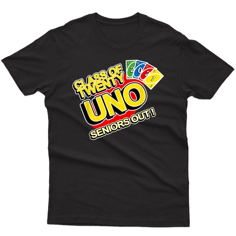 Class Of 2021 Senior Gamer Twenty-uno Seniors Out Graduates T-shirt