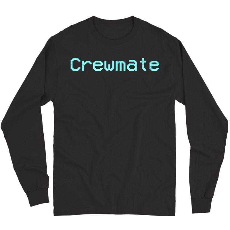 Crewmate Emergency Meeting Gamer Tee In Distress Design T-shirt Long Sleeve T-shirt