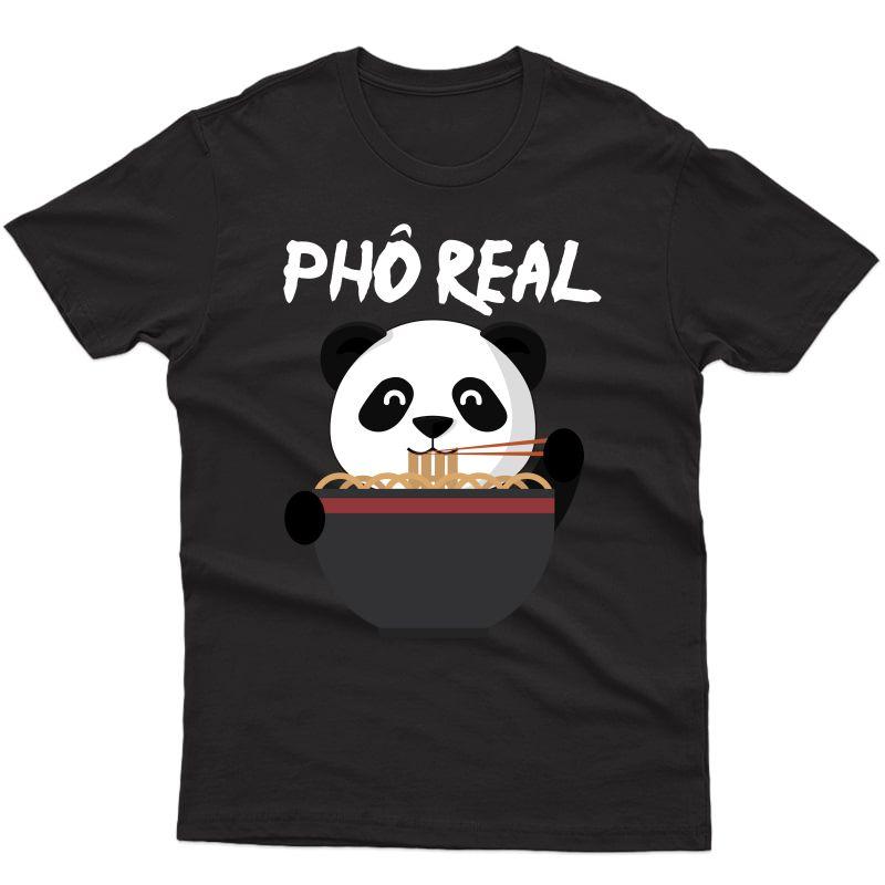 Cute Pho Real Noodle Panda Premium T-shirt