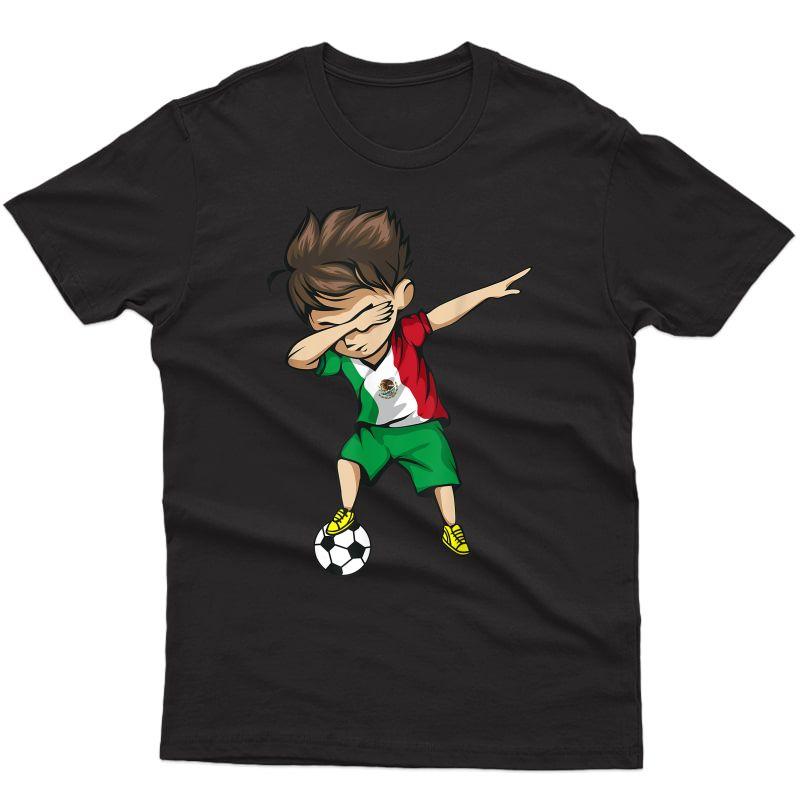 Dabbing Soccer Boy Mexico Shirt - Mexican Football