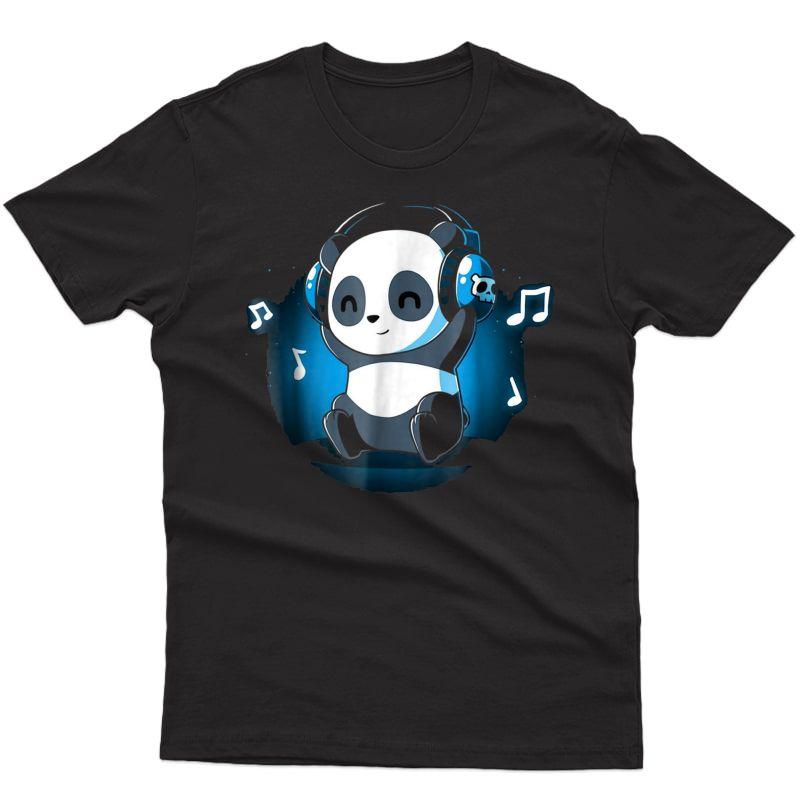 Dj Panda Headphones T Shirt