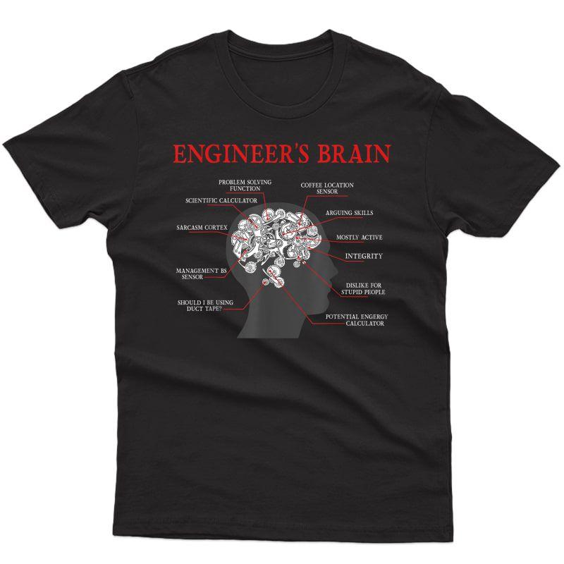 Engineer's Brain Funny Mechanical Engineering Student Gift T-shirt