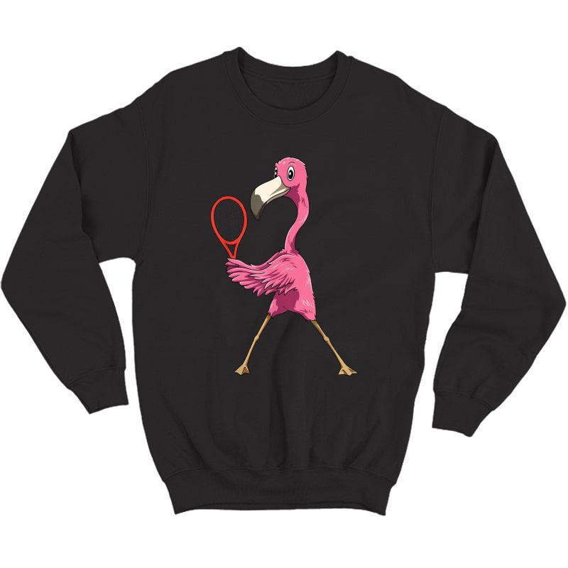 Flamingo Tennis Flamingo Playing Tennis Flamingo T-shirt Crewneck Sweater