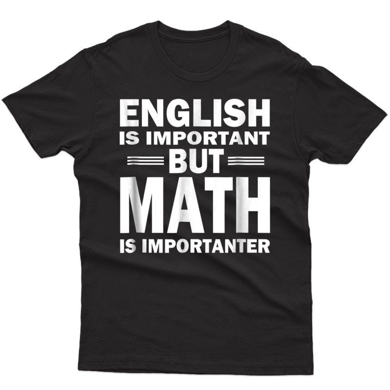 Funny Math Science T-shirt Nerd Gift Idea Birthday