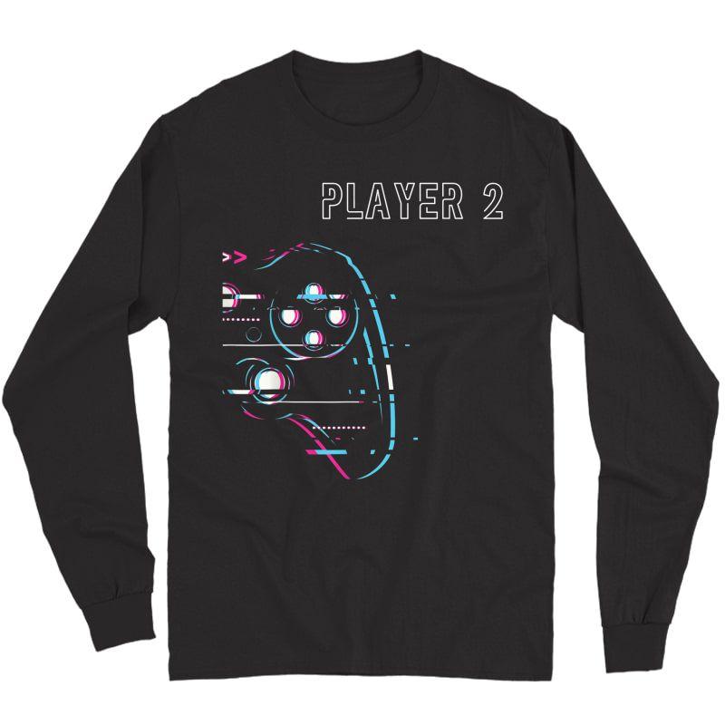 Gamer Couple - Player 1 Player 2 - Gamer Team T-shirt Long Sleeve T-shirt