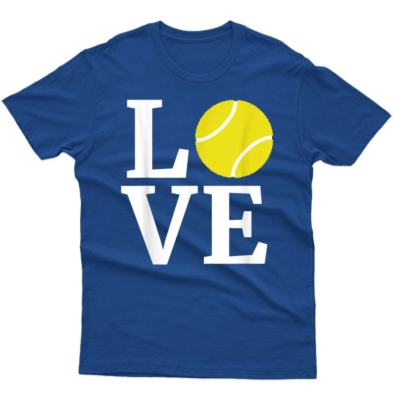 I Love Tennis T-shirt Tennis Lovers T
