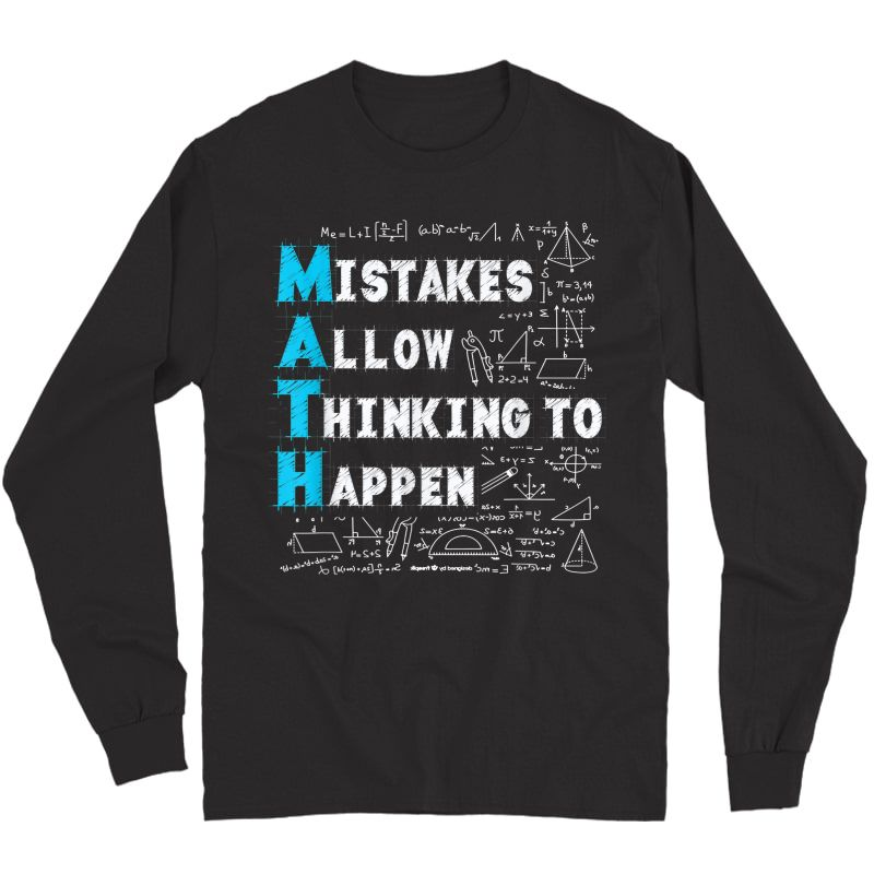 Math Lovers Mistakes Allow Thinking To Happen T-shirt Long Sleeve T-shirt