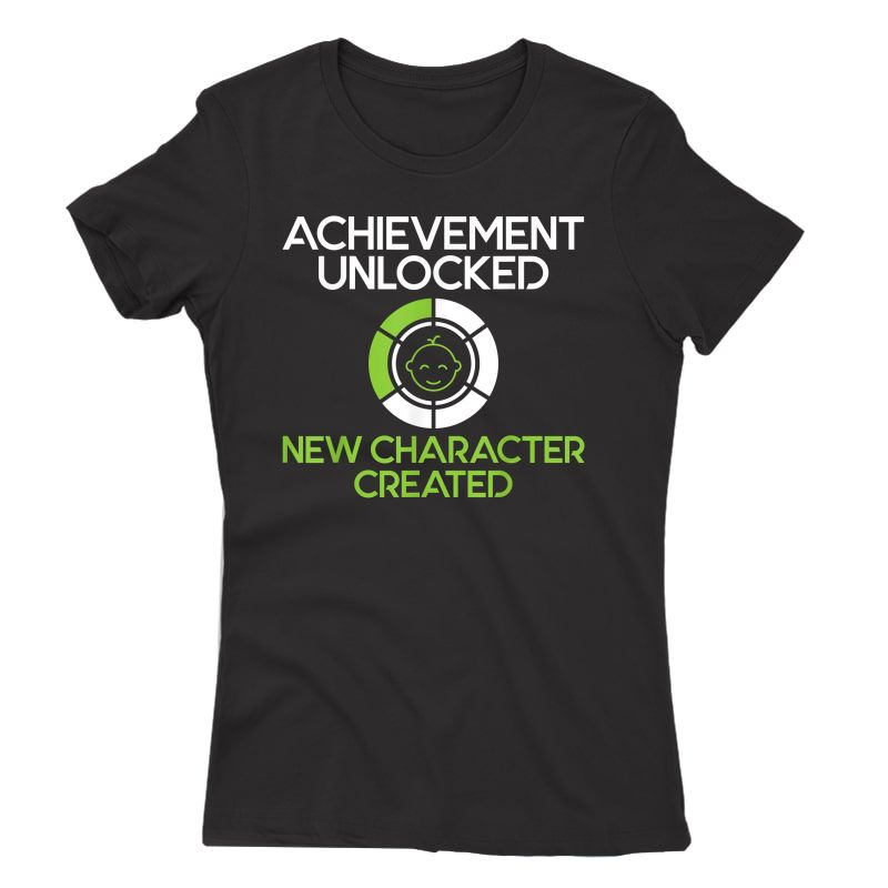 S Character Created New Dad Pregnancy Announcet Gamer Gift T-shirt