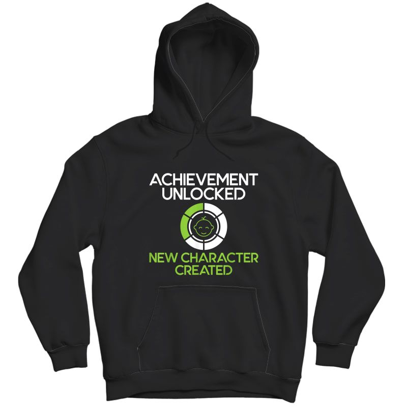 S Character Created New Dad Pregnancy Announcet Gamer Gift T-shirt Unisex Pullover Hoodie