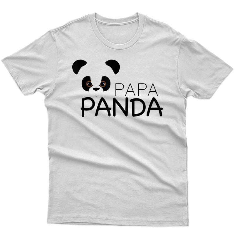 S Papa Panda | Panda Lover Proud Daddy Gift T-shirt