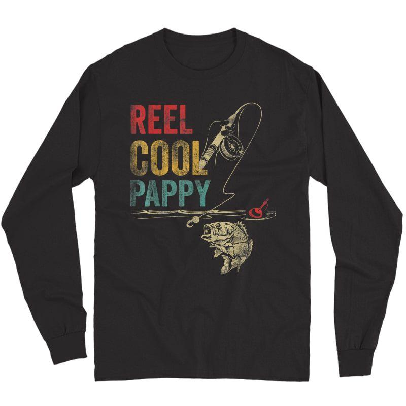 S Reel Cool Pappy Fish Fishing Shirt Father's Day T-shirt Long Sleeve T-shirt