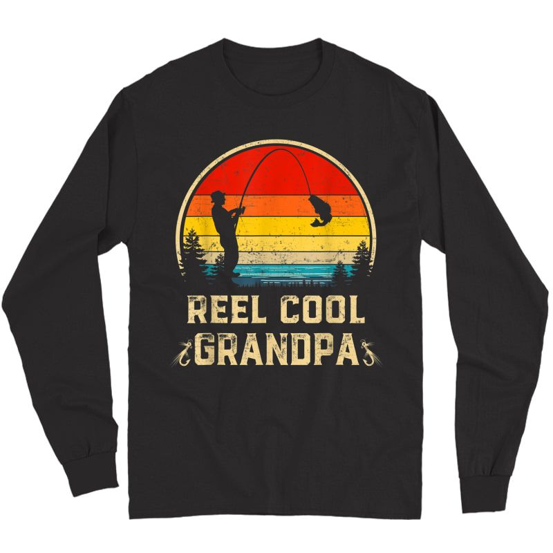 S Vintage Reel Cool Grandpa Fish Fishing Father's Day Gift T-shirt Long Sleeve T-shirt