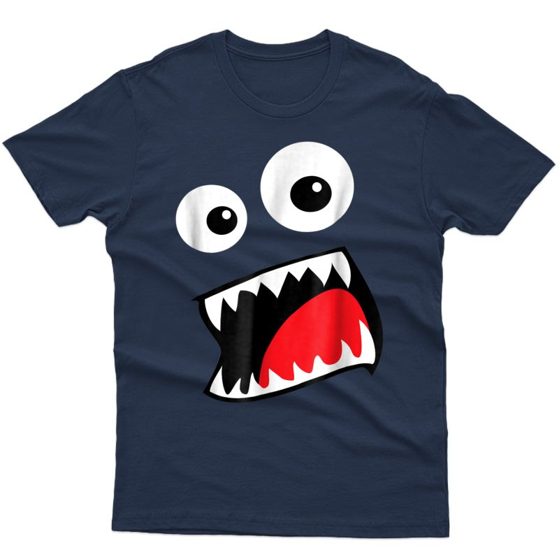 Monster Face Costume Shirt Funny Halloween Adults