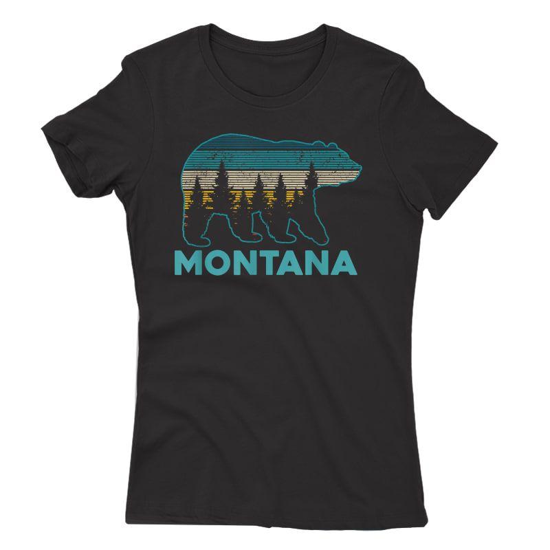 Montana Vintage Grizzly Bear Nature Hiking Souvenir Gift T-shirt