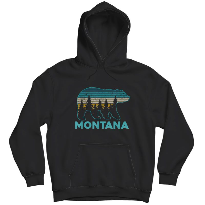 Montana Vintage Grizzly Bear Nature Hiking Souvenir Gift T-shirt Unisex Pullover Hoodie