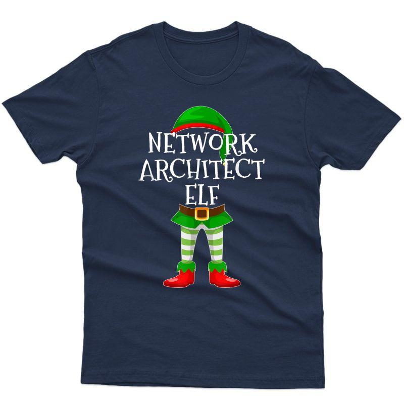 Network Architect Elf Matching Family Christmas Gift Design T-shirt