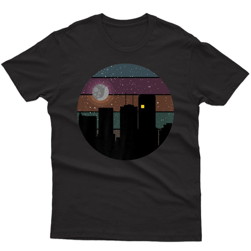 Night Sky Skyline W Skyscrapers - Architect - Skyscraper Day Premium T-shirt
