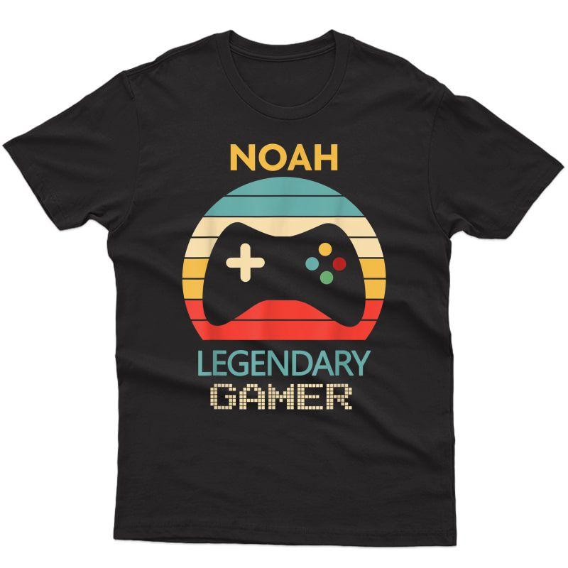 Noah Name Gift - Personalized Legendary Gamer T-shirt