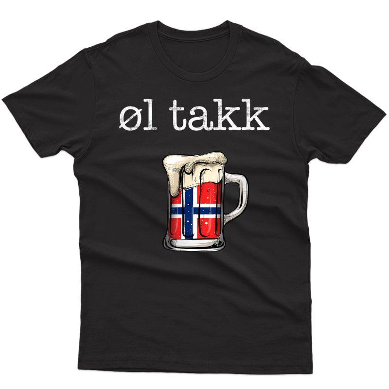Norwegian Beer Please Ol Takk, Norway Funny T-shirt