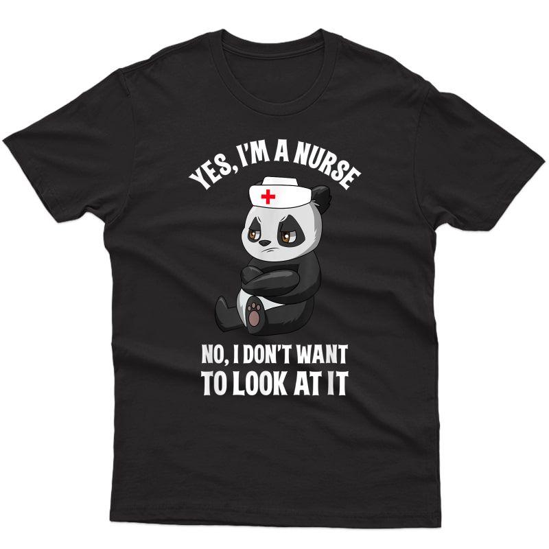 Nurse Shirts For Funny Panda Nursing Tshirt Rn Lnp T-shirt