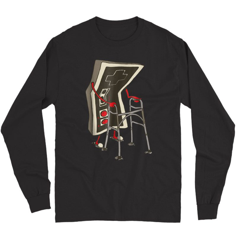 Old Gamer Tshirt Retro Video Game, Old Gamer T-shirt Long Sleeve T-shirt