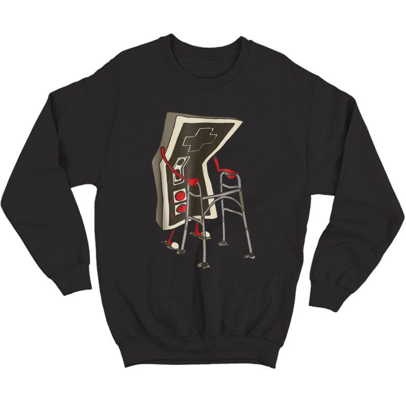 Old Gamer Tshirt Retro Video Game, Old Gamer T-shirt Crewneck Sweater
