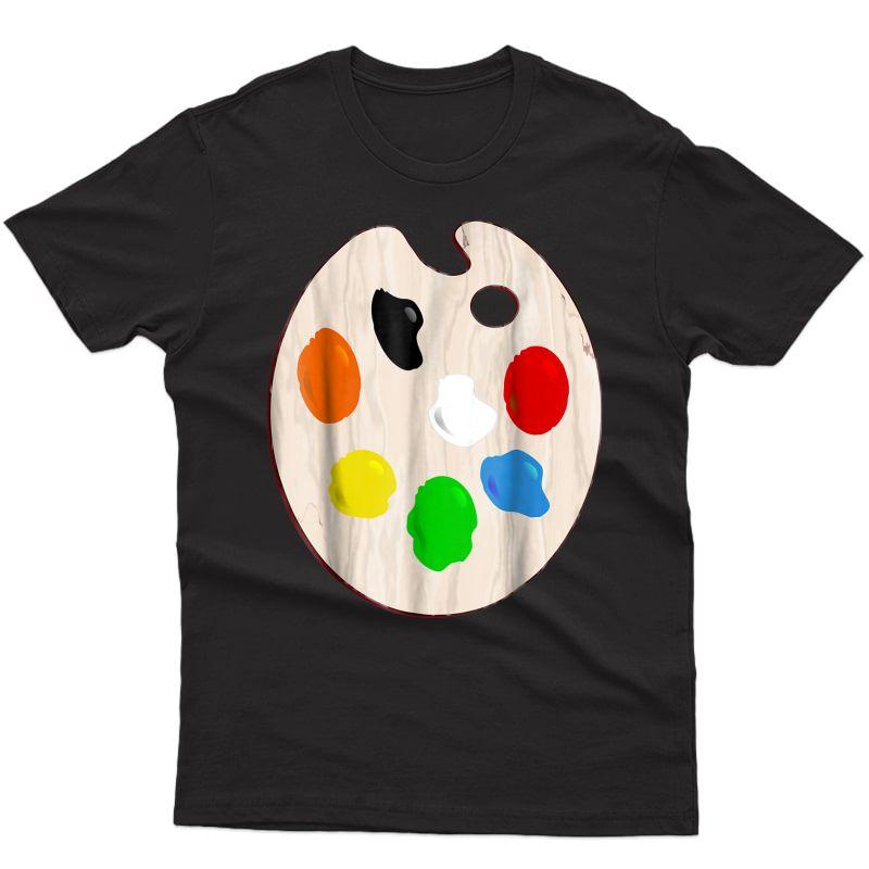 Painter Artist Paint Palette Costume T-shirt Halloween