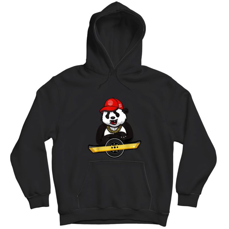Panda Bear And Oso On Wheel Electric Skateboard T-shirt Unisex Pullover Hoodie