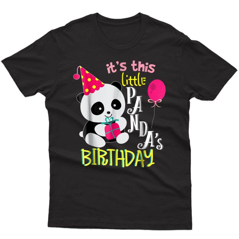 Panda Birthday Shirt Girls Panda Bear Gift