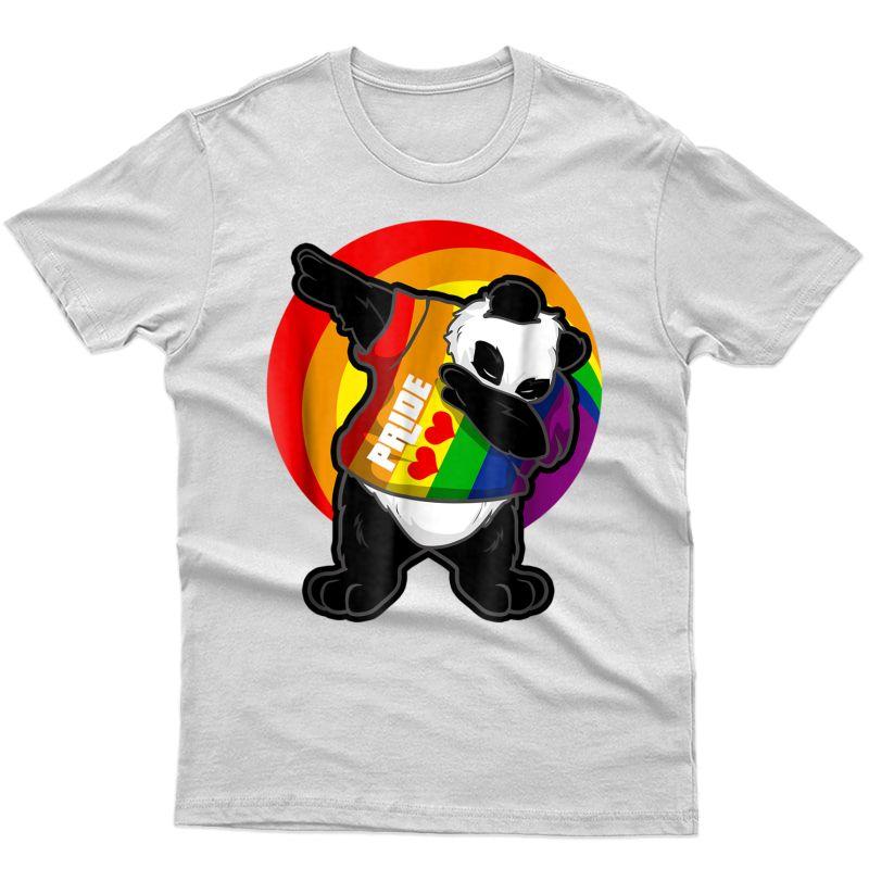 Panda Dab Shirt - Pride Rainbow Dabbing Panda Lgbt T-shirt