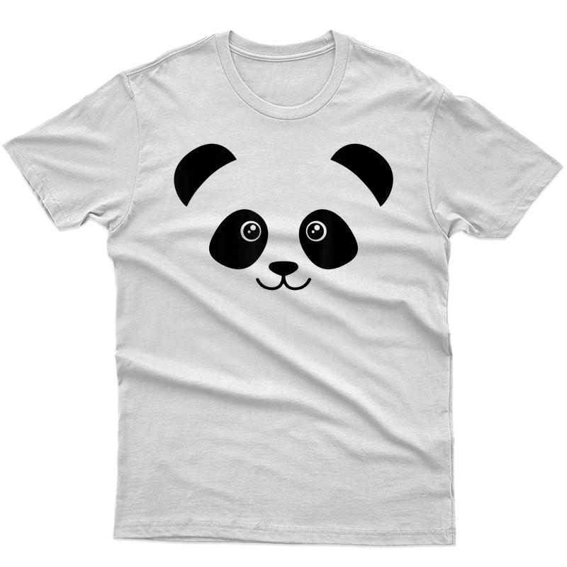 Panda Face Cute Bear Lover Gift T-shirt