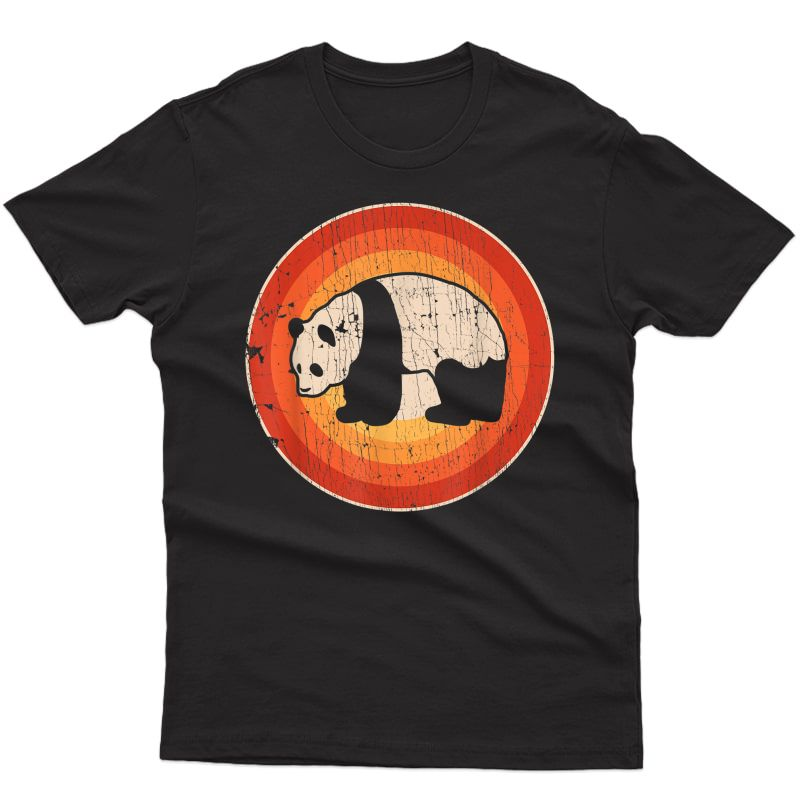 Panda Retro Vintage Style 60s 70s Gifts Bear Lover T-shirt