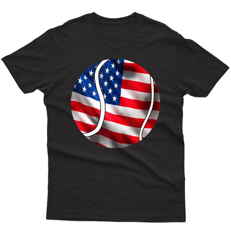 Patriotic Tennis American Flag 4th Of July Tank Top Shirts
