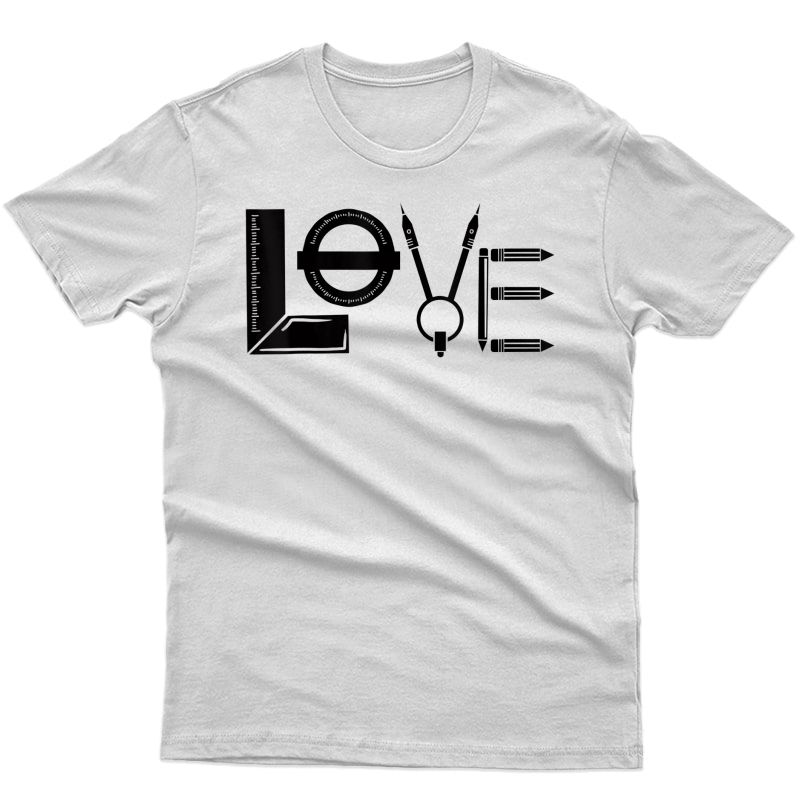 Perfect Fun Architecture Tools Love Design Architect T-shirt