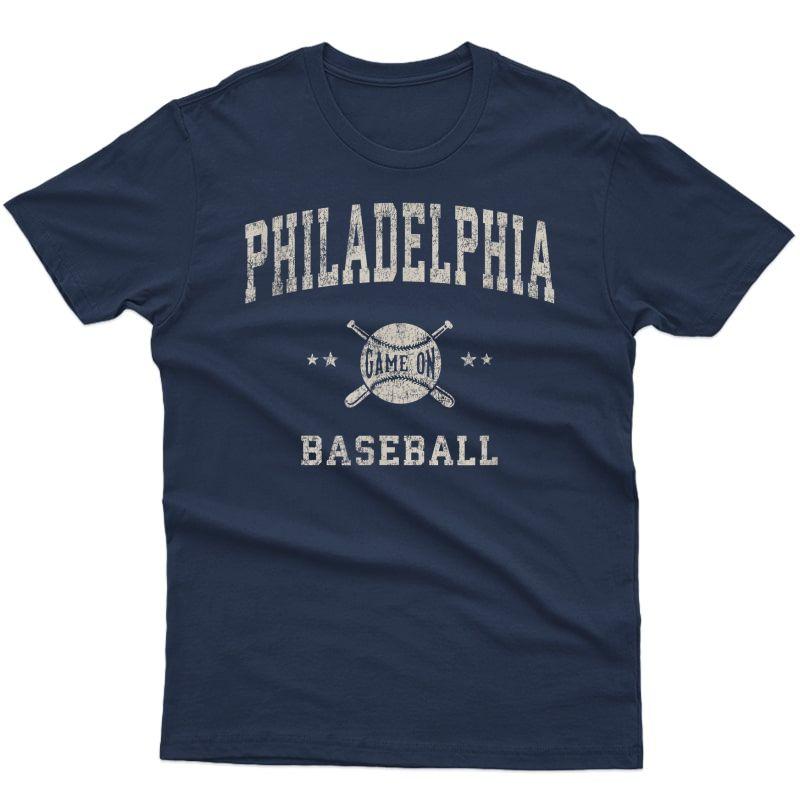 Philadelphia Philly Vintage Baseball Throwback Retro Design T-shirt