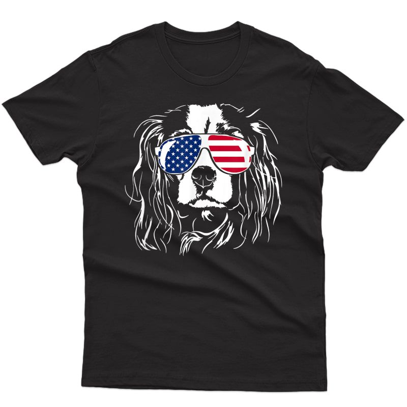 Proud Cavalier King Charles Spaniel 4th Of July Dog Lover T-shirt