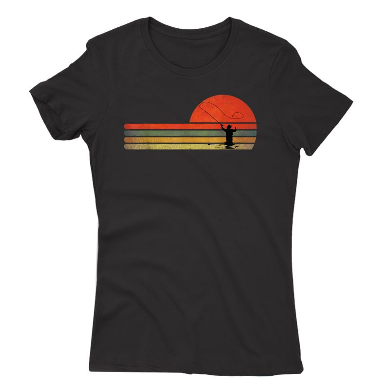 Retro Vintage Fly Fishing, Fly Fishing Lover Gift T-shirt