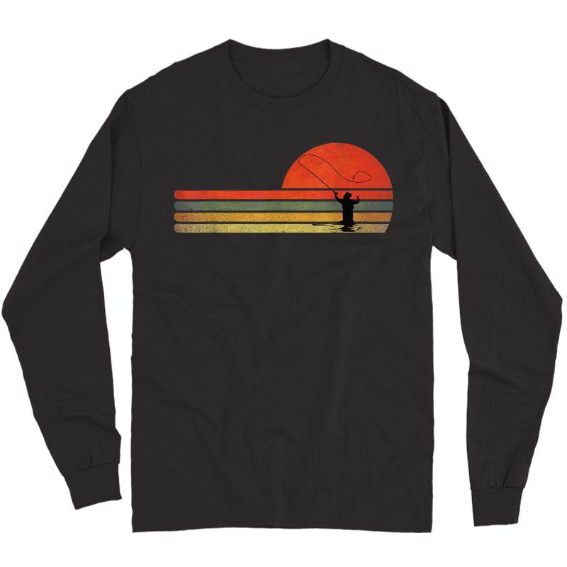 Retro Vintage Fly Fishing, Fly Fishing Lover Gift T-shirt Long Sleeve T-shirt