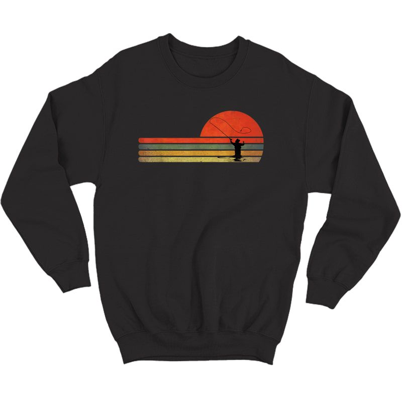 Retro Vintage Fly Fishing, Fly Fishing Lover Gift T-shirt Crewneck Sweater