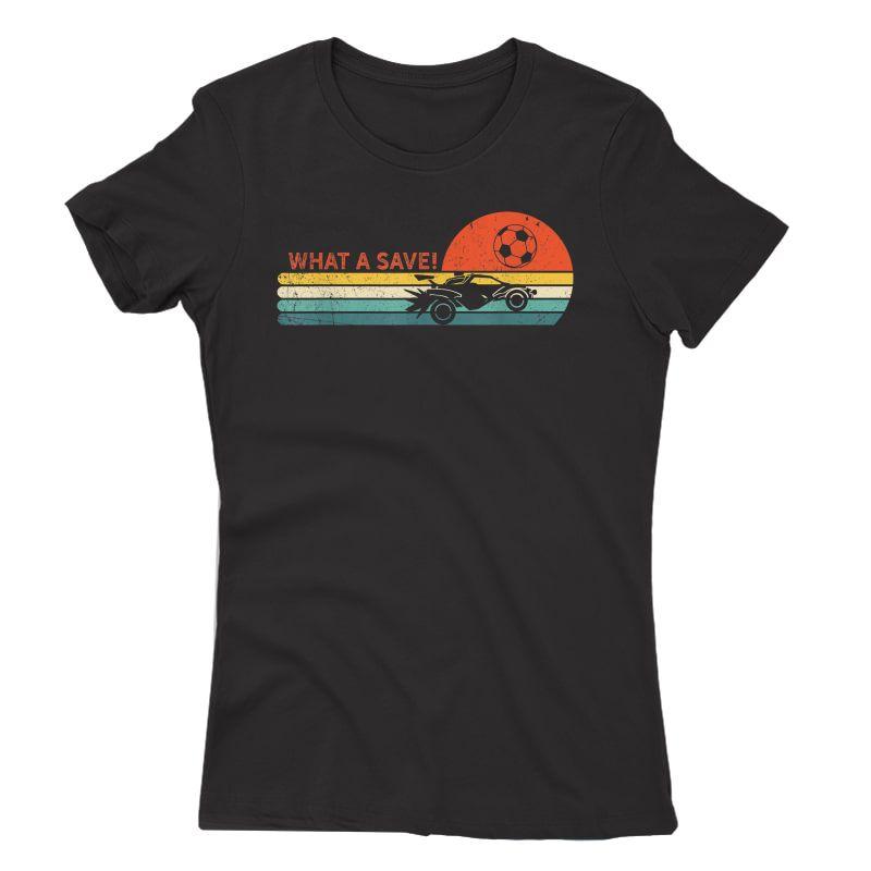 Rocket Rc Soccer Car Retro Style Gamer T-shirt