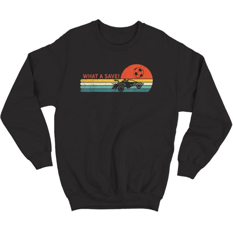 Rocket Rc Soccer Car Retro Style Gamer T-shirt Crewneck Sweater